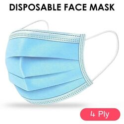 16000 Pcs 4ply Blue Face Mask Earloop Surgical Medical Dental Authorized Level 3
