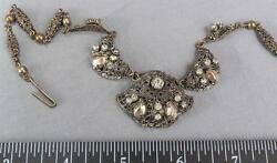 Vintage Silver Plate Necklace Costume Jewelry 1950s 1960s Made West Germany Mv