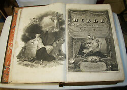 1812 - 1814 Huge Antique Holy Bible 17 1/4 Tall  Illustrated 16lbs.