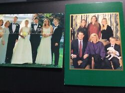 Two Al Gore And Family Christmas Card Signed By Al Gore And Other By Tipper