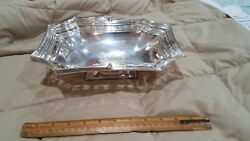 Antique Mappin And Webb Silver Plate Bread Basket With Handle