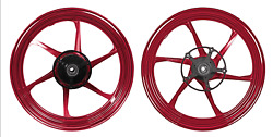 Mos Forged Aluminum Alloy Wheels Yzf-r3 Mt-03 2019-2021 Abs Glossy Red 6 Spokes