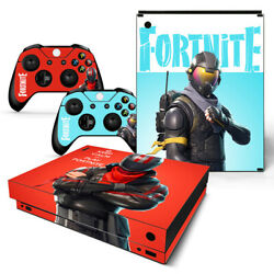 Fortnite Game Console Decal Skin Stickers For Xbox One Console Vinyl Skin+2pcs