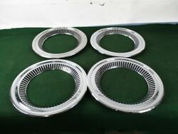 Set Of 4 Chevrolet Cameo Deluxe Trim Rings Wheel Covers 1955-1959 55 56 57 58 59