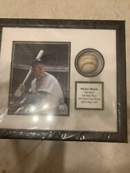Micky Mantle Al Sigh Baseball With Coa 100 Sealed Never Touched
