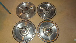 1964 Chevrolet Impala Ss Wheelcovers, Set. 4 1964 Chevy Hubcaps. 64 Chevelle Ss