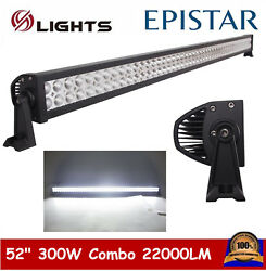 52''inch 300w Led Combo Light Bar Driving Offroad Work Lamp Truck Boat 240w 180w