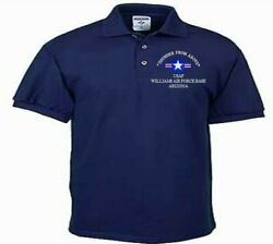 Williams Air Force Base Arizonausafembroidered Lightweight Polo Shirt