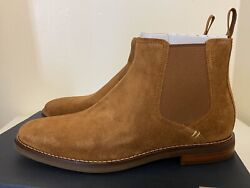 Sperry Gold Cup Chelsea Exeter Boots Caramel Suede Mens Sz 7/ Womenandrsquos Sz 8.5 New