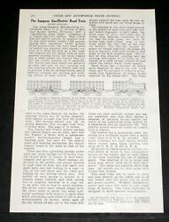 1907 Old Magazine Article Sampson Gas-electric Road Train Tractor Trailers