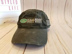 Land Rover of Palm Beaches Black Baseball Cap with Flag