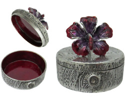 Pill And Trinket Box , Orchid