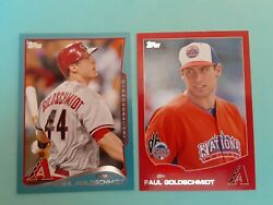 Paul Goldschmidt Arizona 2013 Topps US240 RED Border 2014 Topps 15 BLUE Border