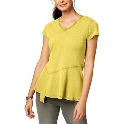 Style & Co. Womens Peplum Short Sleeves Casual T-Shirt Top BHFO 6140