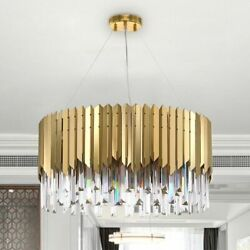 Crystals Fashionable Chandeliers Lighting Stainless Dining Fixtures High Quality