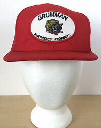 Vintage Grumman Emergency Products Panther Patch Hipster Trucker Cap Mesh Hat