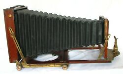 Ensign Full Plate Wooden Field Camera With Brass Lens Support+holderc1905