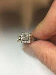 18k Heavy Yellow Gold Diamond Rounds Princess And Baggets 1.00ct Plus