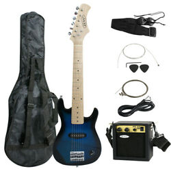 30 Kids Blue Electric Guitar With Amp And Much More Guitar Combo Accessory Kit