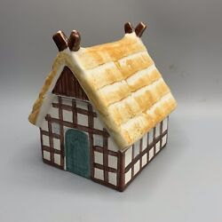 Vintage Goebel Ceramic House Coin Bank Germany With Key