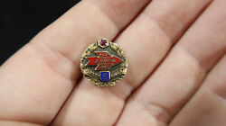 Red Arrow Lines 10k Gold Rare 5 Years Service Award Pin