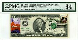 2 Dollars 1976 Star First Day Stamp Cancel Space Discovery Lucky Money 3000