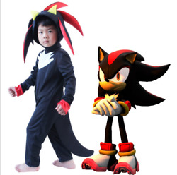 Sonic the Hedgehog Shadow Kids Costumes Bodysuit Cosplay Performance Jumpsuit