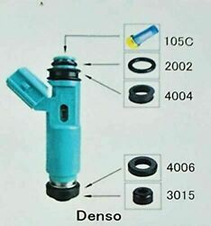 Fuel Injector Repair Kit Diy Denso Blue With Optional Filter Removal Tool