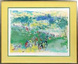 """Leroy Neiman, """"fox Hunt"""" 1974 - Hand Signed Limited Edition Serigraph Framed"""