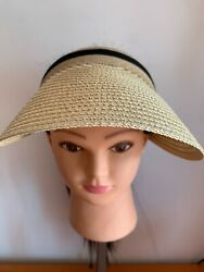 Women Wide Brim Visor Cap Lady Summer Beach Straw Clip $9.99