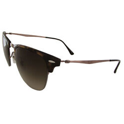 Ray Ban Mens RB8056 Clubmaster Light Ray Sunglasses Tortoise Brown Gradient $131.24