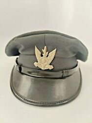 Rare Vintage Authentic Israel Air Force Officer Hat W Idf Air Force Pin Badge