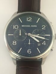 Michael Kors Gents Wristwatch MK8636 Navy Face Chronograph Movement
