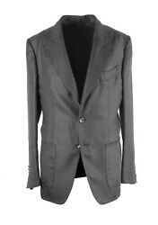 New Tom Ford Shelton Gray Sport Coat Size 46 / 36r In Silk Cashmere Jacket Bl...
