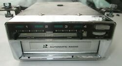 Vintage 1960s - 1970s Automatic Radio 8 Track Car Stereo Eight Track Tape Player
