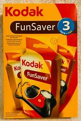 Kodak Fun Saver 3 Pack Cameras With Flash 81 Pictures Brand New Expired 07/2009