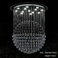 Crystal Pendant Spiral Light With Remote Control Bar Lighting Included Led Bulbs