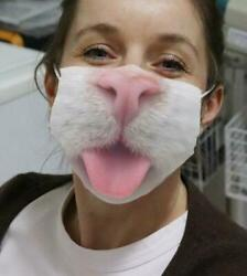 Cute Cat Cat Lover Face Mask Printed in US Washable Fits All Size $21.61
