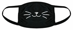 Cat Whiskers Face Mask Funny Pet Kitty Lover Novelty Nose And Mouth Covering