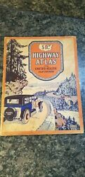 Vintage 1931 Sr Highway Atlas Of The United States And Canada Gallup Map And Supply