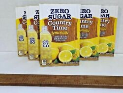 Countrytime Lemonade Lot Of 6 Drink Mix Singles To Go Powders