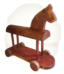 Early 1900andrsquos Antique Horse Wood Toy Primitive
