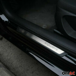 For Volvo S40 S60 Entry Guard Door Sill Cover Protector S. Steel Exclusive