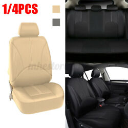 1/4pcs Front Car Seat Cover Pu Leather Mat Pad Universial Cushion Accessories