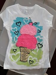 Justice Ice Cream Cone Tee Shirt Size 6 $4.50