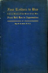 Robert Carter. Four Brothers In Blue. 1913. 1st. Ltd To 100. Civil War Classic.