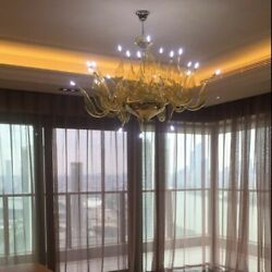 Modern Chandeliers Dining Lights Beautiful Creative Art Clear Glass Unique Lamps