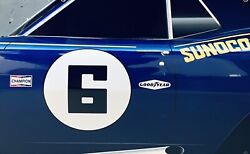 Wow Curved 1968 Camaro Sunoco Number 6 Door Style Sign 3d Effect