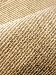 Modern Spectacular Hand Made Area Rug Stripes Beige / Green Woven New 9and039 X 12and039