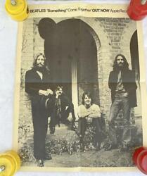 """Rare 1969 """"the Beatles 'something' 'come Together' Out Now"""" Apple Records Poster"""